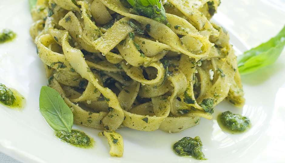 Recipe -- Fettucine with Rocket Pesto