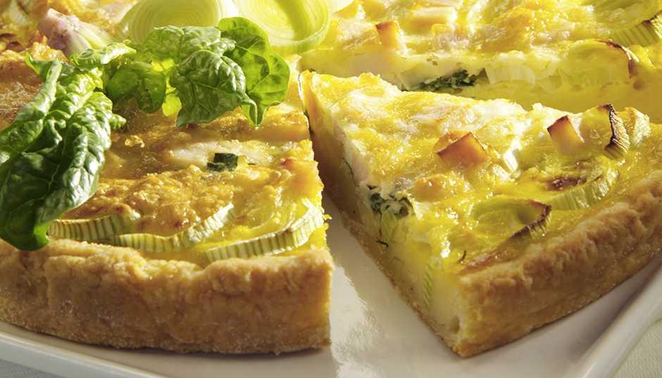Recipe -- Potato, Leek and Spinach Quiche