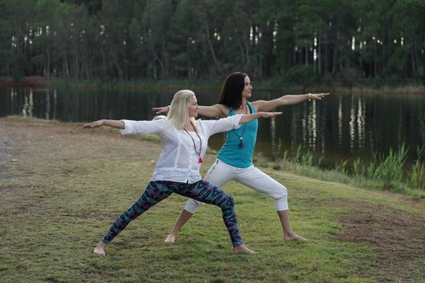 warrior 2 yoga asanas exercise strength dance flow series health wellness asmy australia gold coast