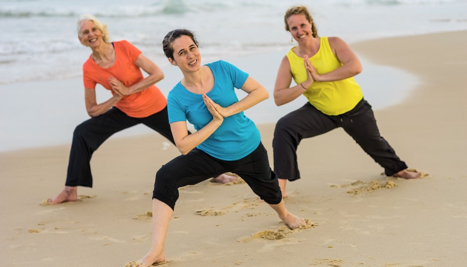 warrior 2 grounding safety alignment health wellness asmy fitness exercise comfort flexibility workshop pose hatha asanas