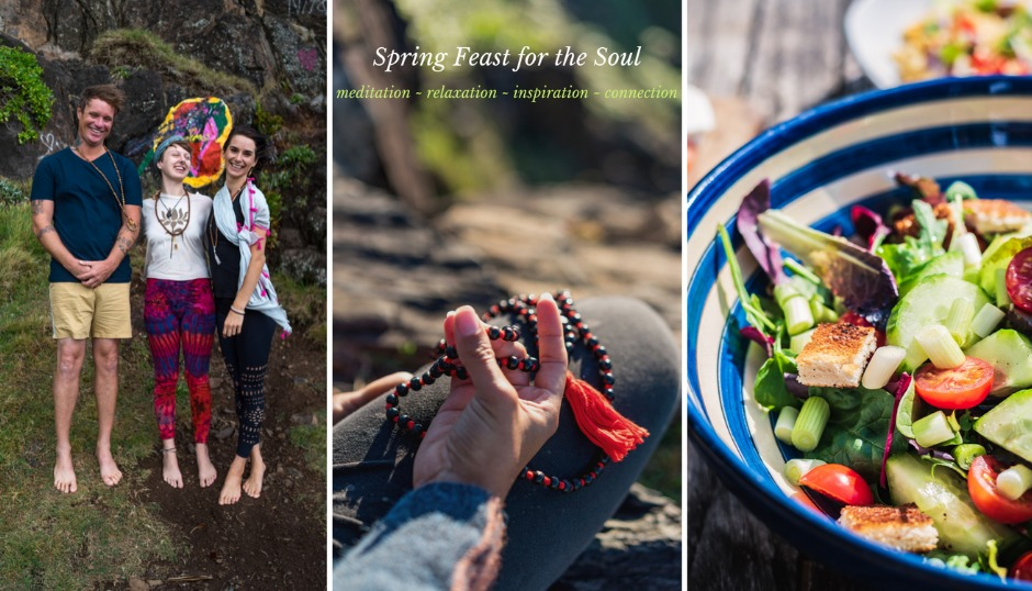 spring soul food fresh salads new beginnings wisdom bhagavad gita sangha satsang fun community meditation bhagavad gita asmy gold coast vegan vegetarian food
