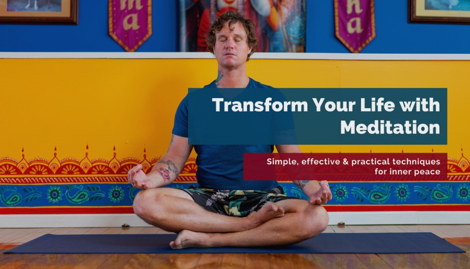 transform your life with meditation mindfulness routine self care discovery realization asmy gold coast radha krishna das learn to meditate course workshop beginners advanced happiness inner peace health wellness