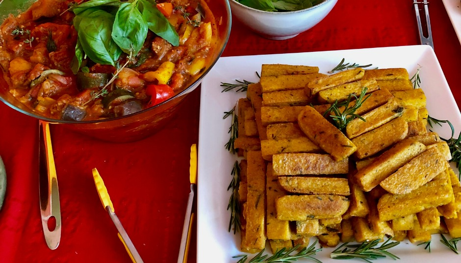 polenta parmesan chips vegetarian plant based summer meals health wellness 2020 fun family friends eating food lifestyle asmy
